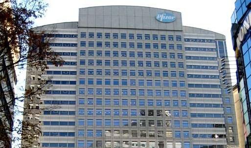 El edificio de la farmacéutica Pfizer.