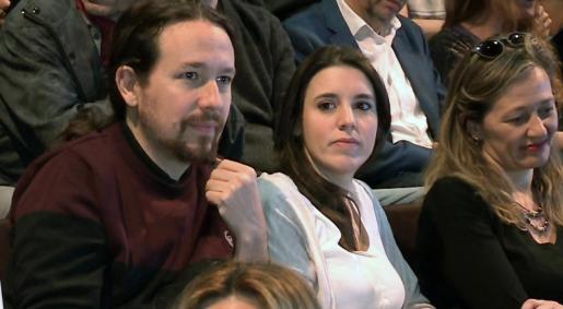 Pablo Iglesias e Irene Montero, dirigentes de Podemos