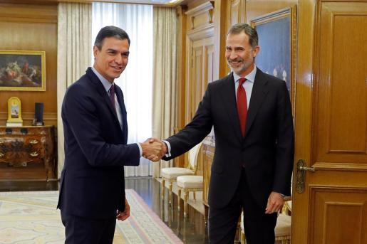 El Rey cierra la ronda de consultas para la investidura con Pedro Sánchez.