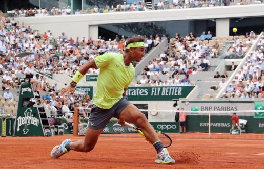 Imagen de Rafael Nadal durante su partido de cuartos de final ante Kei Nishikori.