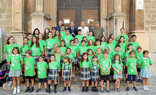 La coral infantil del Col·legi Bisbe Verger, de Santanyí, interpretó el himno 'Dando la cara por ti'.