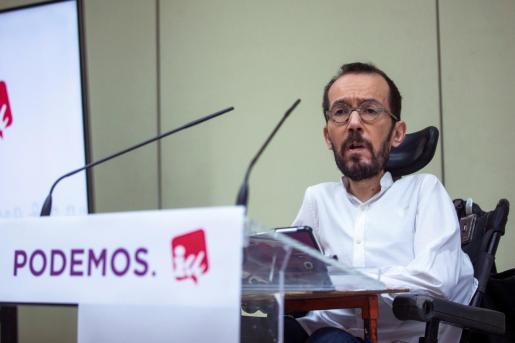 Pablo Echenique, dejará su cargo como secretario de Organización de Podemos.