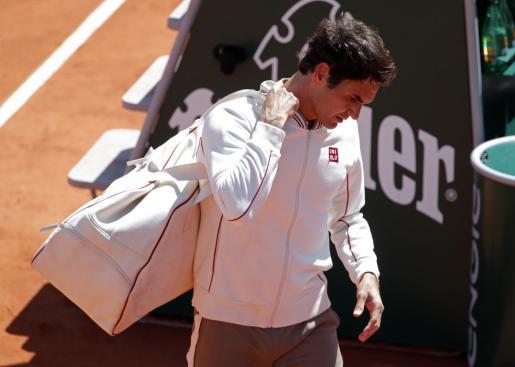 Roger Federer tras el partido.