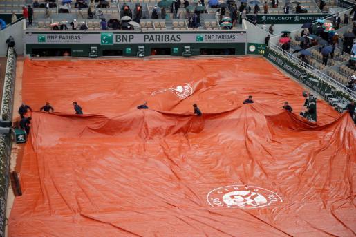 El partido de semifinales entre Djokovic y Thiem se aplaza por la lluvia.