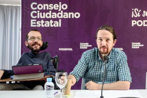 Reunión del Consejo Ciudadano Estatal de Podemos (CCE) en el Círculo de Bellas Artes de Madrid.