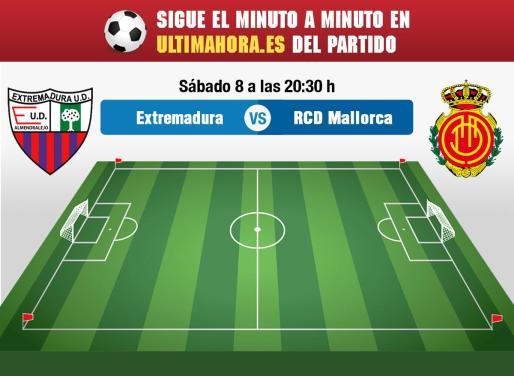 El Real Mallorca visita el campo del Extremadura en la última jornada del campeonato regular de la Liga 123.