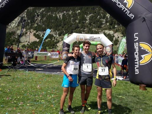 Jan Margarit, Oriol Cardona y Pere Rullán, en la línea de meta.