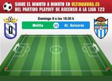 UD Melilla-Atlético Baleares, en directo