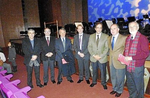Cristòfol Vidal, Joan Rotger, Gori Marcus, Marcelino Minaya, Rafael Bosch, Adolfo Orozco y José María Lavilla.