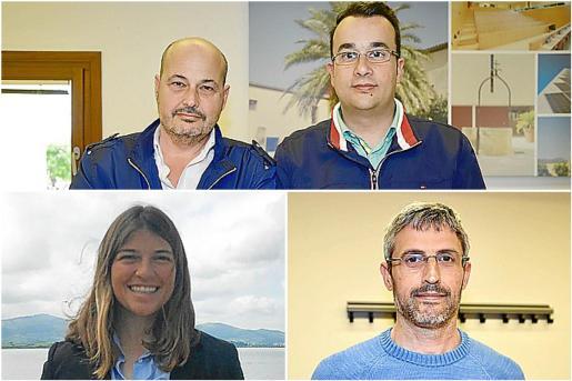 Arriba, Carlos Martínez y Javier Fernández (Air Fun & Food). Abajo a la izquierda, Aina Bauzá (Gestoría del Marino) y, abajo a la derecha, Joaquín Alfaro (Travel Inblock).