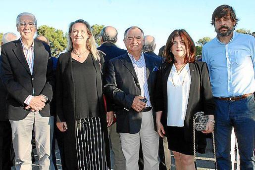 Pedro Comas, Mercedes Conrado, Antoni Ribot, Catalina Font y Rafael Carcasona.