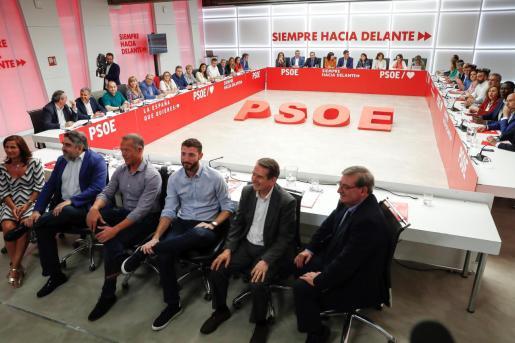 Vista general de la reunión de la Ejecutiva Federal del PSOE.