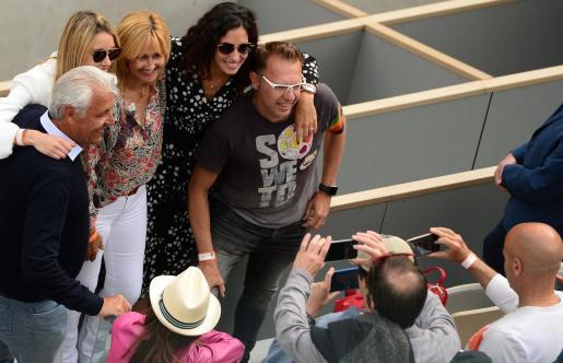 Xisca Perelló acudió como público a la final del Roland Garros, donde lució el reloj suizo.