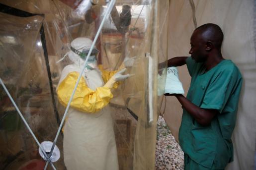 Un centro de tratamiento contra el ébola.