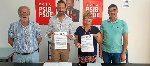 Fernando Peñalver, Rafel Fernández, Margarita Rico y Mateu Melis firmaron el pacto.