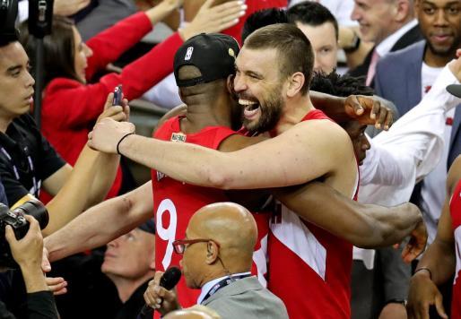 Marc Gasol, celebrando el triunfo.