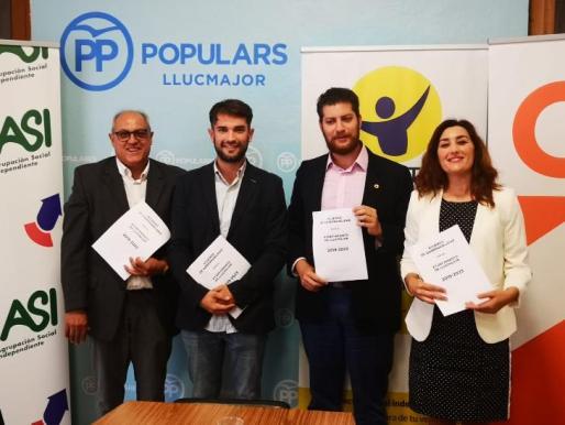 PP, Ciudadanos, Llibertat Llucmajor y ASI han llegado a un acuerdo de gobernabilidad en Llucmajor.