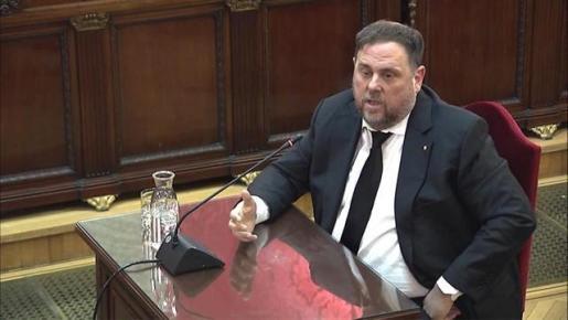 Oriol Junqueras en el Tribunal Supremo.