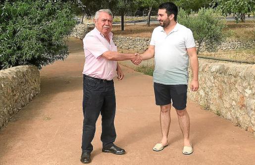 Isern y Perelló, en el Pont Trencat, límite entre Consell y Alaró.