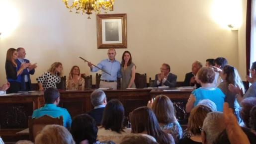 Toni Serra se estrena como alcalde en Muro.