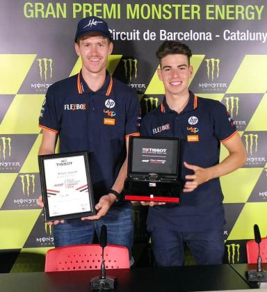 Marc Horrach y Augusto Fernández, con el premio al mejor 'poleman'.