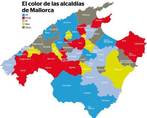 Las alcaldías de Mallorca.