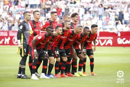 Formación del Real Mallorca previa al encuentro contra el Albacete.