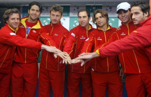 El equipo de la Copa Davis al completo