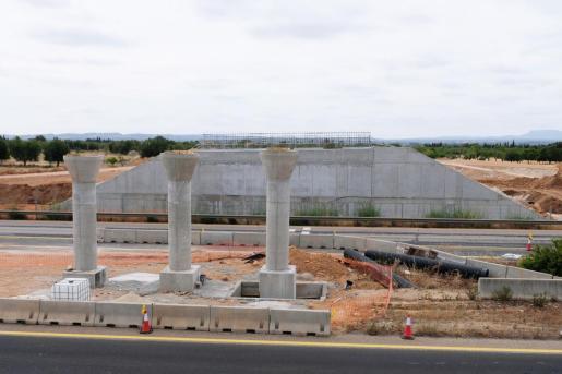 Imagen de la nueva infraestructura a la altura de la salida de Lloseta en la autopista de Inca.