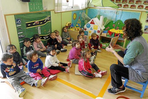 Imagen de archivo de una clase en un centro de Educación Infantil de Menorca.