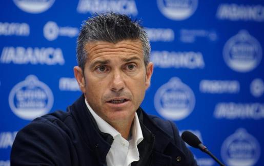 Pep Lluís Martí, durante su presentación como técnico del Deportivo A Coruña.