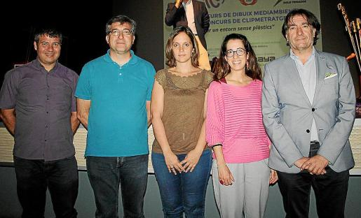 Josep María Rigo, Jaume Ribas, Gema Arroyo, Sandra Espeja y Xavier Bonet.