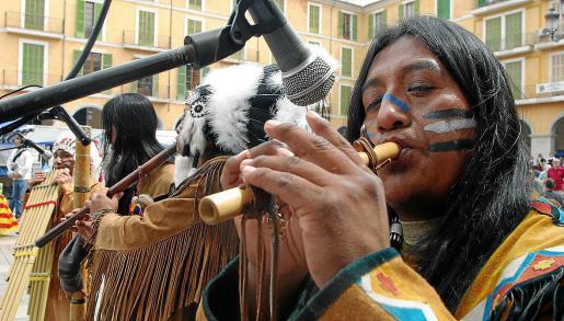 Cuando entre en vigor el decreto, los músicos callejeros no podrán actuar en la Plaça Major de Palma.