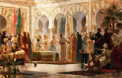 Abderramán III fue el octavo y último emir independiente y primer califa omeya de Córdoba. Vivió setenta años y reinó cincuenta. Fundó la ciudad palatina de Medina Azahara, cuya fastuosidad aún es proverbial, y condujo al emirato cordobés de su nadir al esplendor califal. Dedicó gran parte de su reinado a acabar de someter el territorio del emirato, desgarrado por numerosas rebeliones, mediante una mezcla de persuasión, prebendas y fuerza.