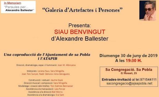 Una coproducción del Ajuntament de Sa Pobla junto a ATAPIB.