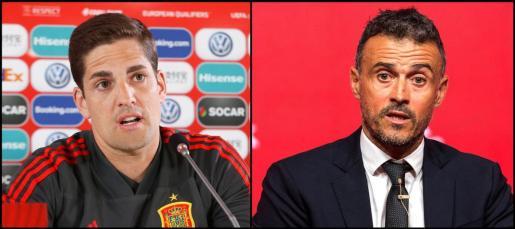 A la izquierda, Robert Moreno, y a la derecha, Luis Enrique.