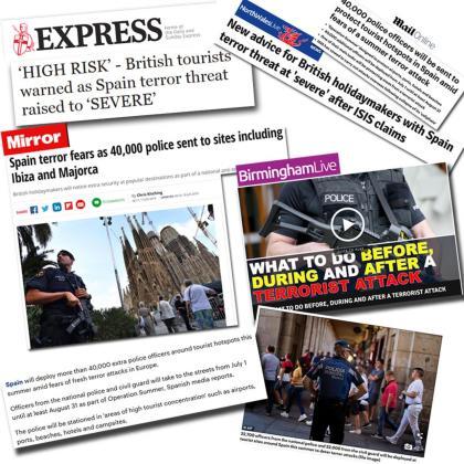 La 'operación verano' en los destinos turísticos españoles, entre ellos Baleares, se ha malinterpretado en la prensa británica como una decisión del Gobierno para reforzar las medidas de seguridad en las zonas turísticas y evitar ataques terroristas.