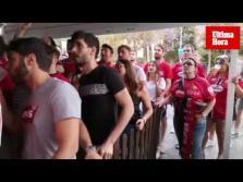 Aficionados viendo el Deportivo-Real Mallorca