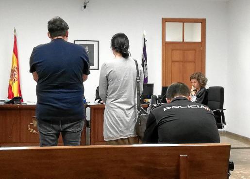 Los dos acusados, este jueves en un juzgado de Vía Alemania de Palma.