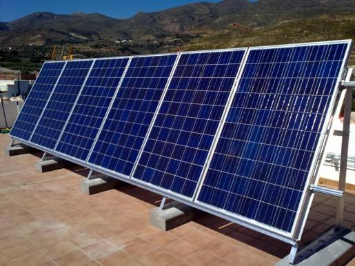 Imagen de archivo de placas fotovoltaicas.