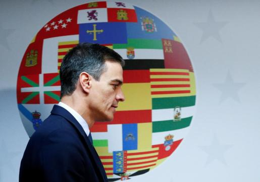 Spain's Prime Minister Pedro Sanchez attends a news conference after the European Union leaders summit in Brussels, Belgium, June 21, 2019. REUTERS/Francois Lenoir EU-SUMMIT/