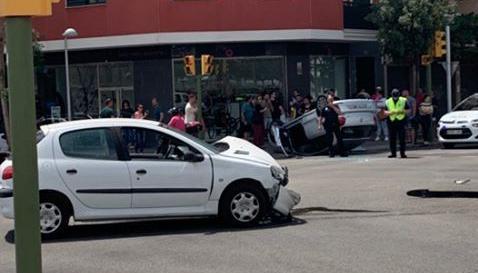 Imagen de los dos vehículos implicados en el accidente.