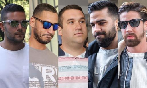 Los cinco condenados miembros de La Manada.