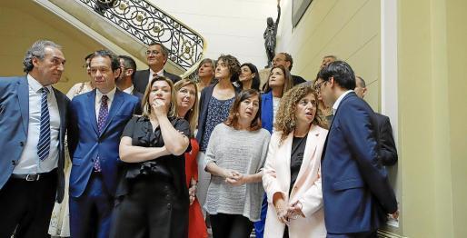 Diputadas y diputados del PSIB, el jueves, que pueden estar también en el Govern.