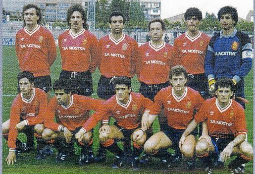 Formación del Real Mallorca en la temporada 1988/99 en la que acabaría logrando el ascenso a Primera.