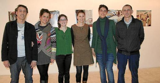 José Luis García, Laura Coll, Esther de la Fuente, Nadine Ulritch, Alejandra Bordoy y Juan Antonio García.