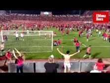 Éxtasis en Son Moix por el ascenso a Primera del RCD Mallorca