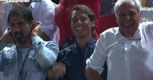 El tenista de Manacor vibró con el regreso a Primera del Mallorca.