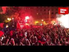 Fiesta del Real Mallorca en Palma tras su ascenso a Primera