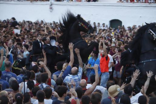 Un momento de los Jocs des Pla, uno de los instantes que centran la atención de los 'santjoaners'.
